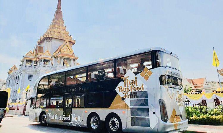 Thai Bus Food Tour ทัวร์รอบกรุงพร้อมเมนูอาหารไทยระดับโลก